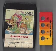 Mego 2-Xl 1970's Talking Robot 8 Track Tape Animal World With Button Card Rare