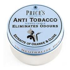 Price's Anti-Tobacco Candle in Tin - Eliminates Tobacco and Smoking Odour