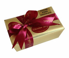 NO ADDED SUGAR BELGIAN CHOCOLATES - 415g, 25-27 chocolates in gold box