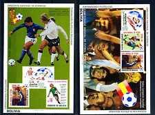 2 Blocks Bolivien Fußball WM Spanien 1982 ** postfrisch Block 128 und 129  BR401
