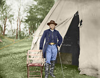 Captain James Forsyth Provost Marshall Color Tinted photo Civil War 00809