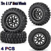 "4PCS Tire Tyre & 1.9"" Metal Wheel Rim for RC 1/10 SCX10 D90 TRX-4 90046 Crawler"