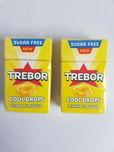 TREBOR LEMON FLAVOUR COOL DROPS 8x28g BEST BEFORE :17/02/2022.