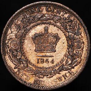 1864   Canada New Brunswick Victoria One Cent 'Gilt'   Bronze   Coins   KM Coins