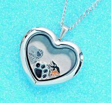 Doberman Heart Memory Locket Necklace | Dog Keepsake Jewelry | Dobie Memorial