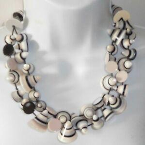 Sobral Formas Multi Cones Lagrima Bead Artist Made Statement Necklace