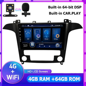 Für Ford S-Max 2006-2015 Autoradio Android 10 GPS Navi DSP CarPlay 4GB+64GB DAB+