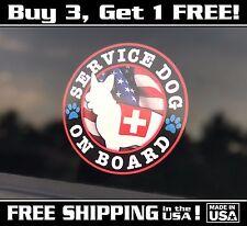 Service Dog On Board, Bumper Sticker, FREE SHIPPING!