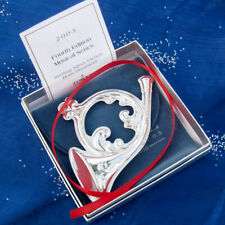 RARE• NEW • Towle MUSICAL FRENCH HORN Sterling Silver Christmas Ornament Pendant
