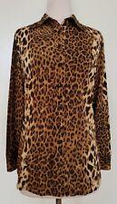 PERRI CUTTEN Brown/Black Stretch Knit Shirt Size12