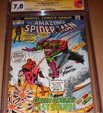 Amazing Spider-Man #122 CGC SS 7.0 SIGNED Romita Sr Conway Death Green Goblin