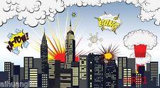 Superhero Scenery Vinyl Photography Backdrop Background Studio Prop 7X5Ft In Us