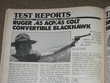 GUNS & AMMO TEST RUGER BLK HAWK 45ACP-45LC, KODIAK DBL RIFLE + 17 REM LOADS