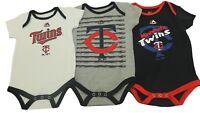 MLB Minnesota Twins Majestic Creeper Infant 3 Piece Bodysuit Set New W Tags