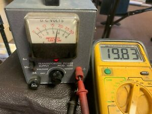 Eico model 1020 Power Supply 0-30 Volts variable vintage working unit