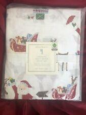 Pottery Barn Kids Organic Jolly Santa Sheet Set Twin NWT NLA