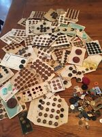 Antique & Vintage Mixed Lot of Buttons on Cards