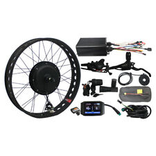 "48v 1500w 24""  Bike Fat Tire Rear Wheel Ebike Conversion Kit color screen"
