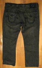 TRUE RELIGION BILLY EN'S GRAY DISTRESSED BOOTCUT JEANS SIZE 36 X 35