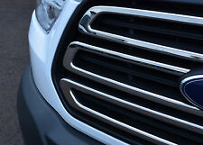 CHROME GRILLE ACCENT TRIM SET COVERS S.STEEL 3pc GRILL FOR FORD TRANSIT 2014+
