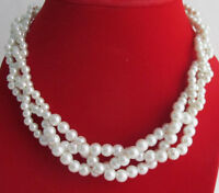 Pearl Necklace,Wedding Ivory Pearl Necklace Bridesmaid Necklace,Braided Necklace