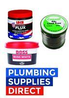 * Plumbers Lead Free Solder / Soldering kit / 60g Laco Flux / Boss White 400g