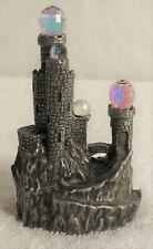 "Vintage 1984 Traumwelt Crystalite Pewter Fantasy Magic Castle 4"" Signed"