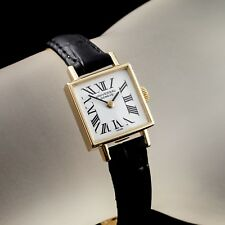 14k Yellow Gold Universal Geneve Women's Square Hand-Winding Watch