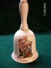 "Vintage Norman Rockwell ""The Toy Maker"" Bell 1985 6 1/2"" High"