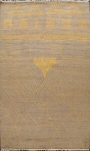 Abstract Moroccan Berber Oriental Hand-knotted Area Rug Contemporary Wool 9'x12'