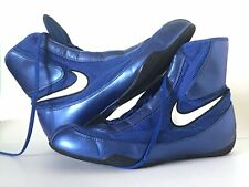 Nike Machomai Mid-Top Boxing Shoes Size: 10.5 Color: Blue/Black/White
