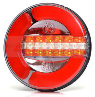 LED REAR ROUND HAMBURGER FOG / REVERSE / TAIL LAMP LIGHT FLAT BED TRUCK TRAILER