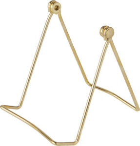 """Bard's Folding Gold-toned Wire Stand, 4"""" H x 3.5"""" W x 5.5"""" D (Pack of 2)"""