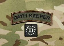 Oath Keeper Tab 3% Ranger Eye Patch Set III Percent Woodland Morale Patch