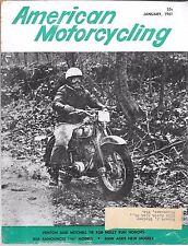 AMERICAN MOTORCYCLING MAGAZINE JANUARY 1961 (VG) NEW BSA MODELS