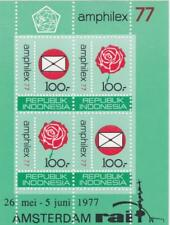 Indonesia 1977 Souvenir Sheet #1000a Amphilex 77 Philatelic Exhibition - MNH