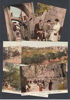 FOURTEEN Photochrom Zurich Postcards Middle East / Asia Bethlehem Lebanon etc
