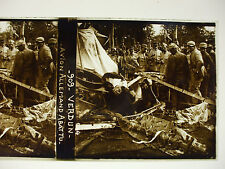 plaque photo guerre 14-18 verdun avion allemand abattu soldats poilus WWI
