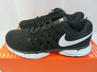 Nike Lunar Fingertrap TR 4E Wide Training Shoes Black White 898065-001 Mens 8