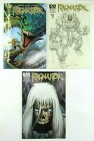 Ragnarok #1 Cover A SUB Cover & #2 IDW Comic Book Lot July 2014 First Print