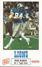 1988 Detroit Lions Rob Rubick Police Football Card Grand Valley State