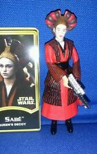 Star Wars Sabe Queen Amidala Decoy POTJ figure loose with weapon and ID card