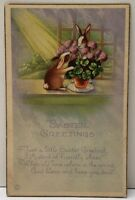 A Happy New Year Children with Pig & Clovers 1911 York Pa Postcard F5