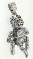 Movable 3D  Cat Pendant  Sterling Silver 925
