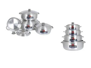 Sonex 5pc Metal Finish Cookware Round Stock Pot Set With Lid 23/25/30/36/38 cm