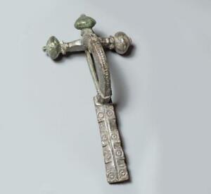 Roman bronze crossbow fibula brooch: 4th century AD.