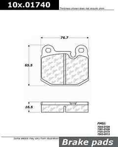 Centric 101.01740 Disc Brake Pad-Front C-Tek Standard NAO Brake Pads