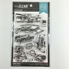 Hero Arts Crafty Messages Clear Stamp Set Craft Handmade Painting Phrases