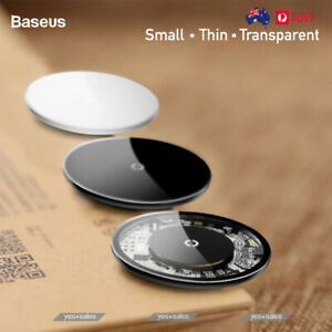 Transparent Wireless Fast Charge 10 W Glass Charging Pad Dock iPhone 12 Pro S21