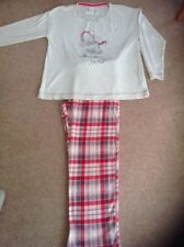MARKS AND SPENCER LADIES ME TO YOU RED CHECK FLEECE PYJAMA SET SIZE 16-18 BNWOT